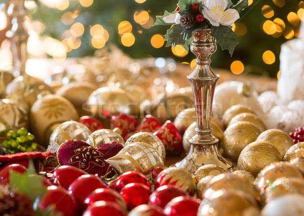 Natale decorazioni tavola natale macro attesa Foto d'archivio © backyardproductions