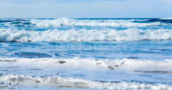 Vagues rive orageux plage parallèle Photo stock © backyardproductions