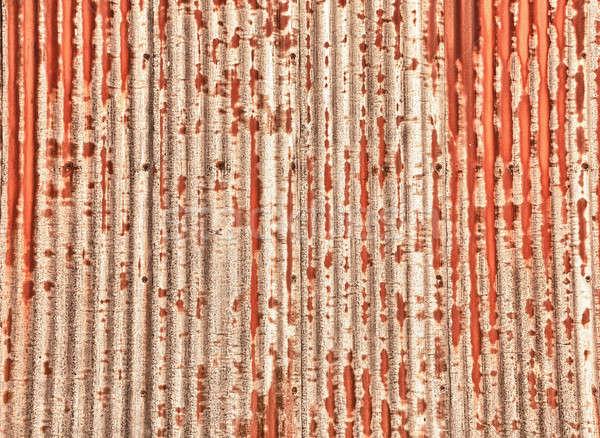 Texture pattern of rusting sheet of metal Stock photo © backyardproductions