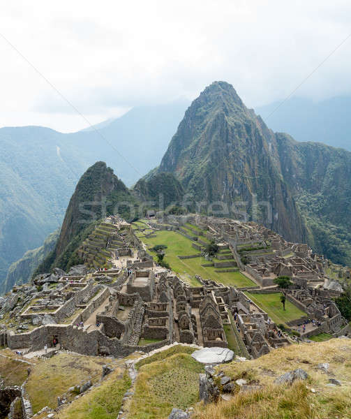 Machu Picchu región Perú manana niebla paisaje Foto stock © backyardproductions