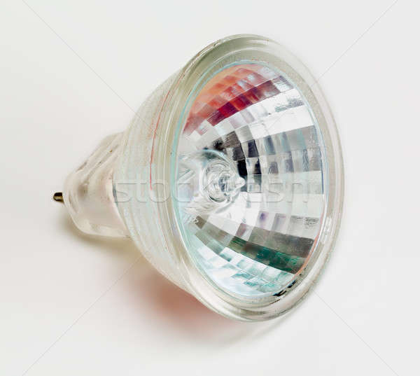 Halogène ampoule côté isolé au-dessus blanche Photo stock © backyardproductions