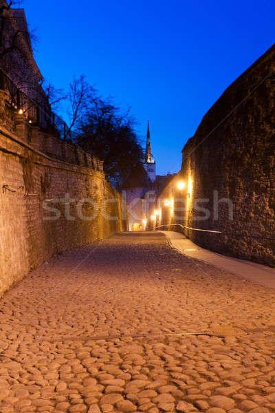 Vecchio strada Tallinn Estonia città Foto d'archivio © backyardproductions