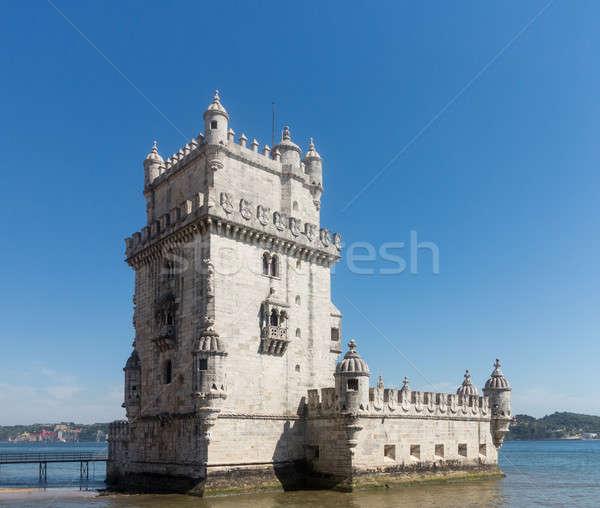 Belem tower on River Tagus near Lisbon Stock photo © backyardproductions