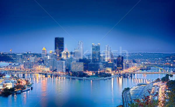 HDR image of Pittsburgh Stock photo © backyardproductions