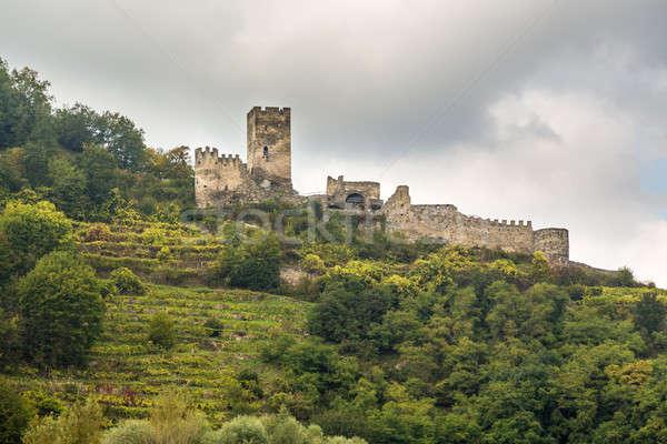 Hinterhaus Ruins on the hillside above Spitz Stock photo © backyardproductions