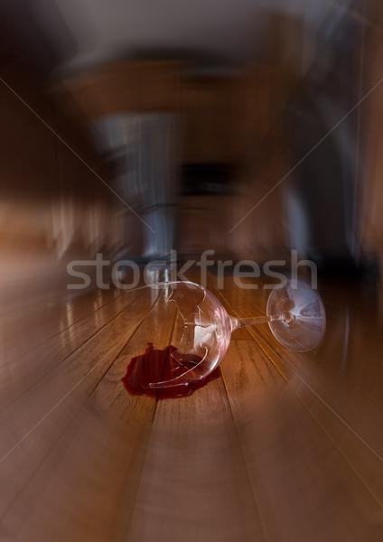 Obraz groźba krajowy domu podziale kieliszek Zdjęcia stock © backyardproductions