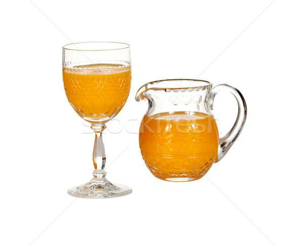 Glas sinaasappelsap gesneden geïsoleerd vers Stockfoto © backyardproductions