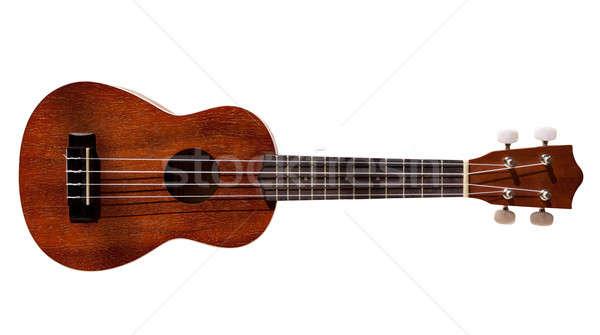 Hawaiian ukulele guitar with four strings isolated on white Stock photo © backyardproductions