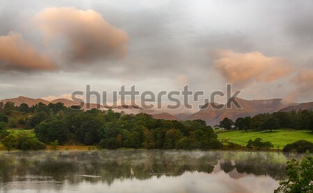 Sunrise at Loughrigg Tarn in Lake District Stock photo © backyardproductions