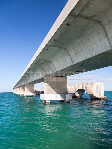 Florida claves puente patrimonio camino concretas Foto stock © backyardproductions