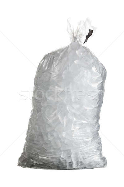 Isolated shot of bag of ice Stock photo © backyardproductions