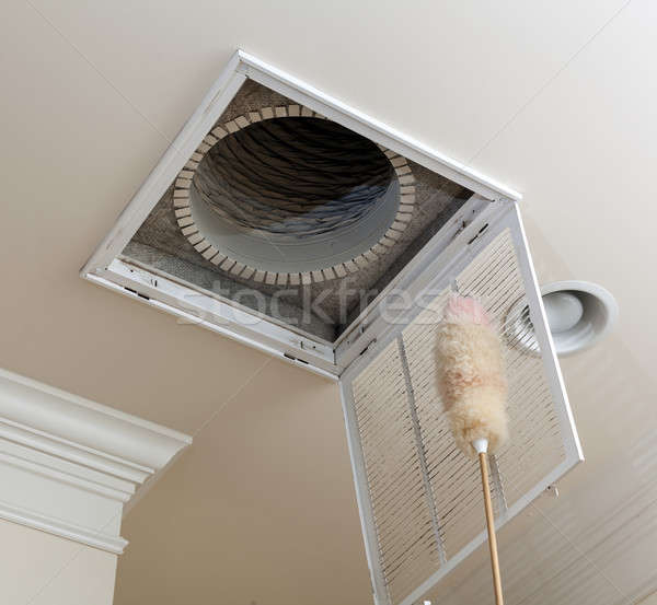 Dusting vent for air conditioning filter in ceiling Stock photo © backyardproductions