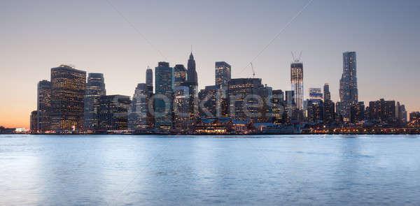 Bajar Manhattan puesta de sol lado cielo sol Foto stock © backyardproductions