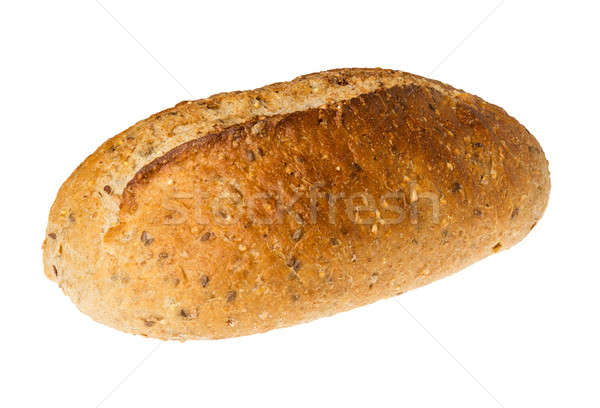 Artisan whole wheat bread isolated against white Stock photo © backyardproductions