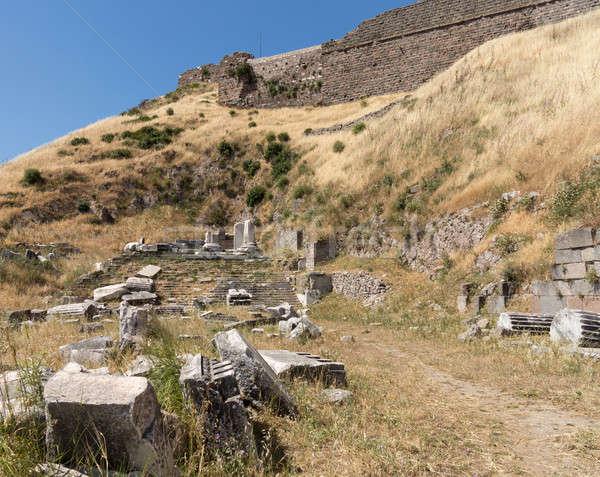 детали старые руин греческий город сейчас Сток-фото © backyardproductions