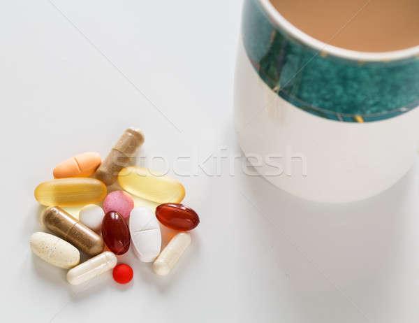 Toplama vitaminler farklı renkler kahvaltı Stok fotoğraf © backyardproductions