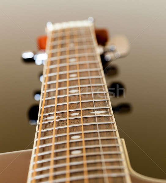 Stock fotó: Kilátás · lefelé · gitár · makró · lövés · akusztikus · gitár
