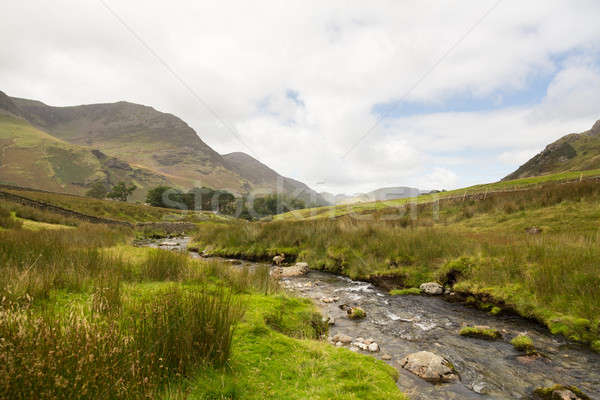 Rocky stream leads towards Buttermere Stock photo © backyardproductions