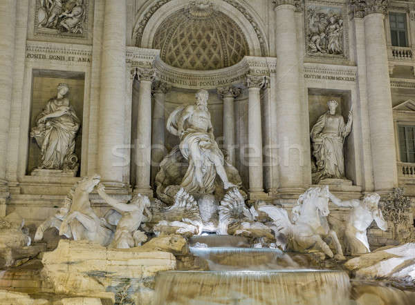 Trevi fountain details in Rome Italy Stock photo © backyardproductions