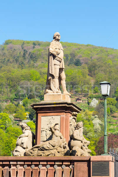 Statue in old town of Heidelberg Germany Stock photo © backyardproductions