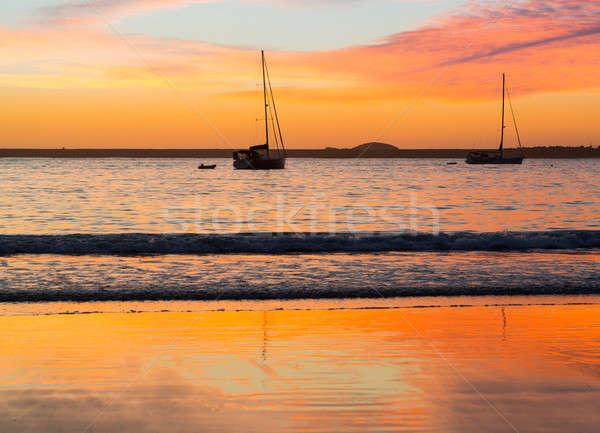 Playa puerto Australia amanecer sol nueva gales del sur Foto stock © backyardproductions