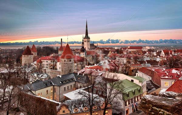 Old town of Tallinn Stock photo © backyardproductions