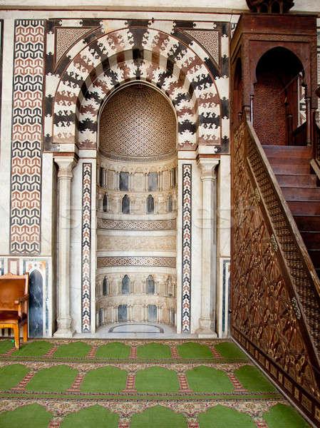 Dekore edilmiş karşı Mekke kale Kahire eski Stok fotoğraf © backyardproductions