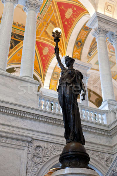 Statua biblioteca congresso Washington DC verniciato Foto d'archivio © backyardproductions