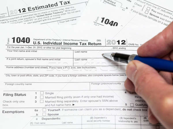 USA tax form 1040 for year 2012 Stock photo © backyardproductions