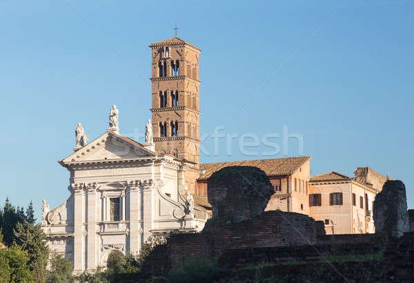 Stock fotó: Kilátás · részletek · ősi · Róma · romok · Olaszország