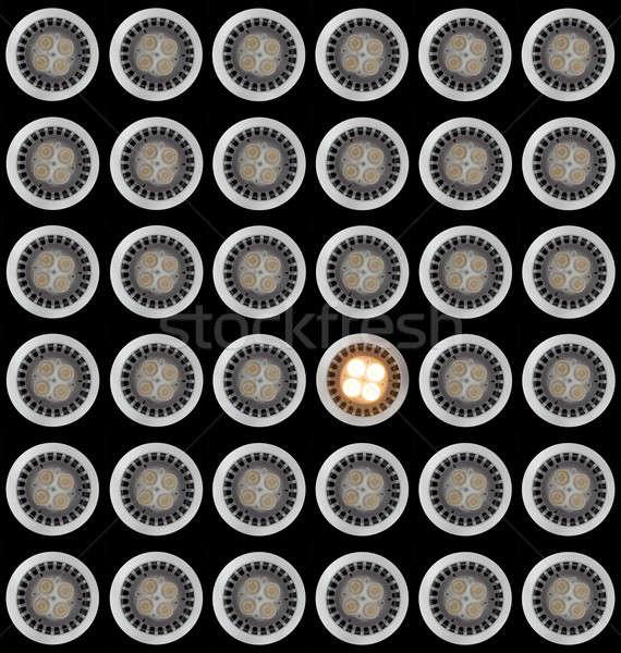 żarówka powyżej wiele żarówki wzór jeden Zdjęcia stock © backyardproductions