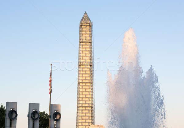 Mundo guerra Washington Monument dedicado servido forças armadas Foto stock © backyardproductions