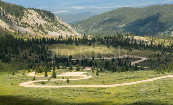 Series of bends on Cottonwood pass dirt road Stock photo © backyardproductions