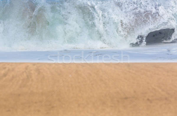 Sandy beach with waves in the distance Stock photo © backyardproductions