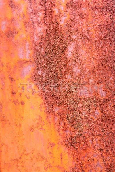 Texture of rust on orange painted metal Stock photo © backyardproductions