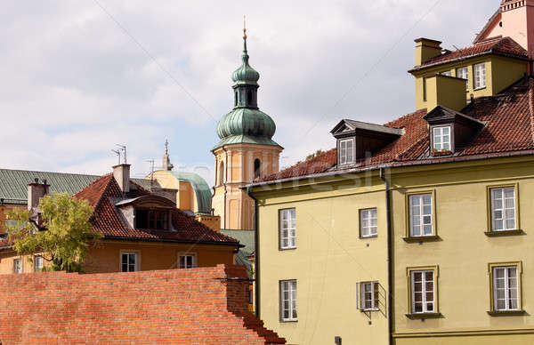 Stock fotó: óváros · Varsó · kilátás · Lengyelország · mutat · színes