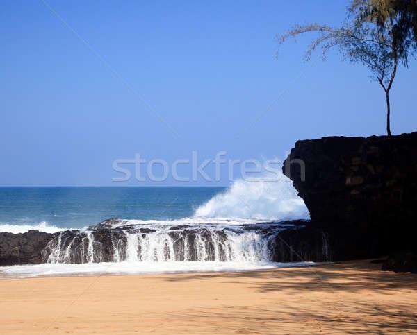 Waves over rocks on Lumahai Stock photo © backyardproductions
