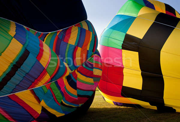 Two Hot air balloons being inflated Stock photo © backyardproductions
