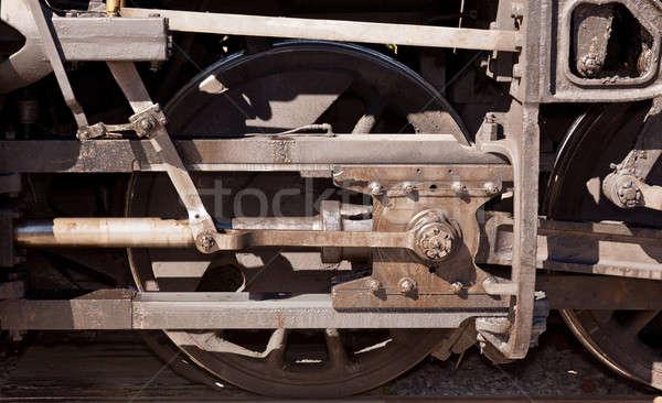 Close up of train wheel Stock photo © backyardproductions