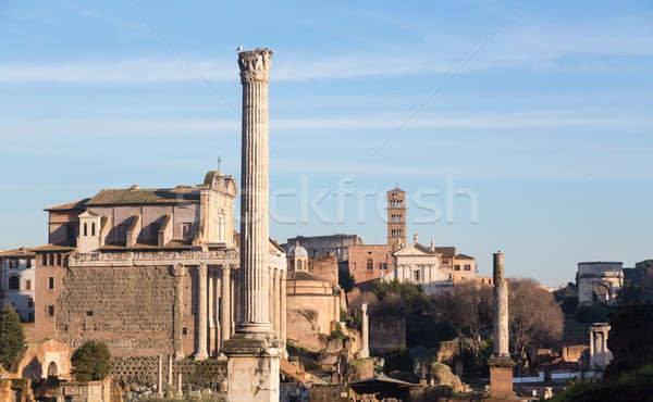 View of details of Ancient Rome Stock photo © backyardproductions