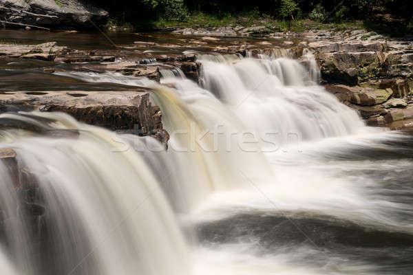 Trois cascades élevé cascade fourche accessible Photo stock © backyardproductions