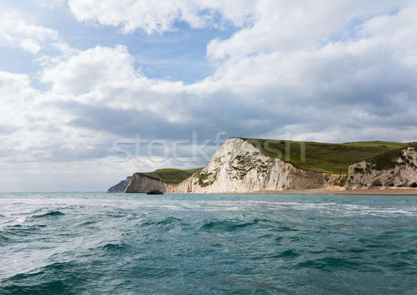 Sea view of cliffs at West Bay Dorset in UK Stock photo © backyardproductions
