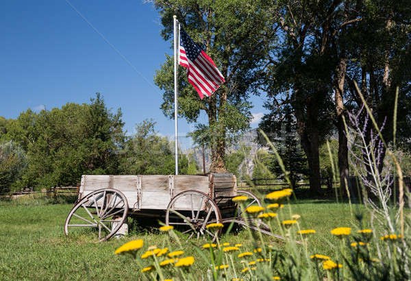 Farmyard and cart by Mt Princeton CO Stock photo © backyardproductions