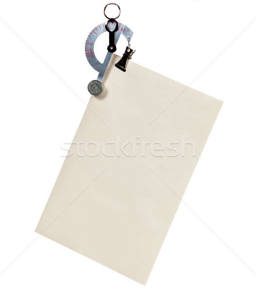 Letter scale weighing an envelope Stock photo © backyardproductions
