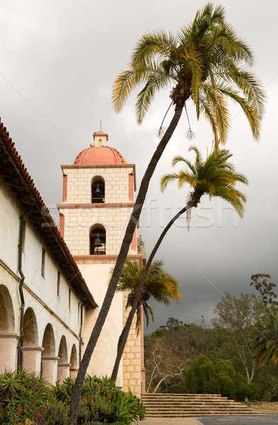 Felhős viharos nap mikulás küldetés Kalifornia Stock fotó © backyardproductions