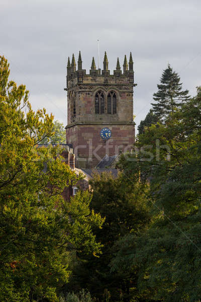 Ellesmere Shropshire Parish Church tower Stock photo © backyardproductions