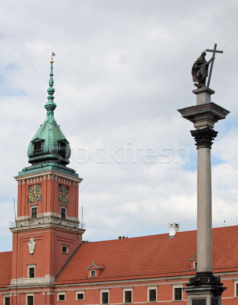 Koninklijk paleis Warschau standbeeld oude binnenstad vierkante Stockfoto © backyardproductions