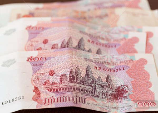5 100 注記 カンボジア ノート 金融 ストックフォト © backyardproductions