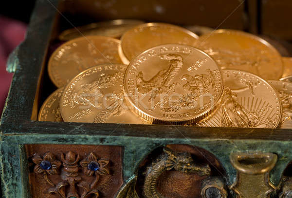 Stock photo: Collection of one ounce gold coins