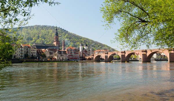 Eski köprü kasaba Almanya ortaçağ Stok fotoğraf © backyardproductions